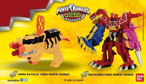 Juguetes Power Rangers Dino Super Charge de Bandai